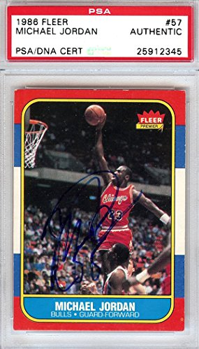 - Michael Jordan Autographed 1986 Fleer Rookie Card #57 Vintage Rookie Era Signature PSA/DNA #25912345