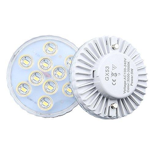 (Bonlux LED Gx53 Light Bulb 5W Warm White LED Under Cabinet Light Downlight Puck Light for Replace CFL Gx53 Light Bulb (2-Pack))