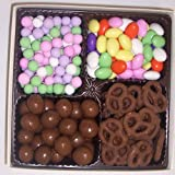 Scott's Cakes Large 4-Pack Chocolate Dutch Mints, Chocolate Jordan Almonds, Chocolate Pretzels, & Chocolate Malt Balls