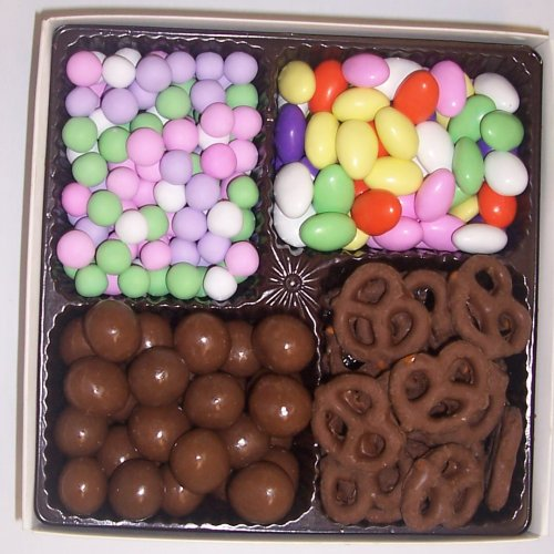 Scott's Cakes Large 4-Pack Chocolate Dutch Mints, Chocolate Jordan Almonds, Chocolate Pretzels, & Chocolate Malt Balls