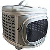 Pet Magasin Hard Cover Pet Carrier - Collapsable Pet Travel Kennel for Cats, Small Dogs & Rabbits by