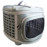 Collapsable Pet Carrier with Hard Cover - Dog & Cat Travel Kennel with Hard Top and Hard Floor for Most Cats, Small Dogs & Puppiesby Pet Magasin