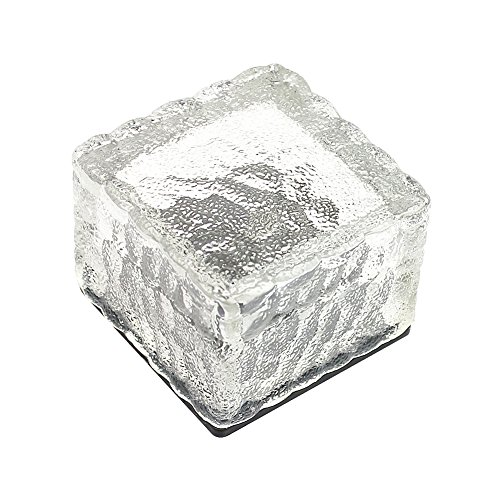 Lighten-Glimmer-Pack-of-3-Solar-Lights-Garden-AA-NI-MH-300mA-LED-Buried-Underground-Brick-Rock-Lamp-Waterproof-IP68-Solar-Pathway-Lights-Cool-White