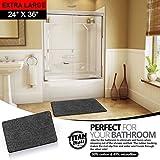 "Indoor Non Slip Super-Absorbent Indoor Doormat   Absorbs Mud   Traps Dirt   Latex Bottom   24""x36""   Machine Washable Carpet   Black & White Fiber   Extra Large Rug  TITAN MATS: 2018"
