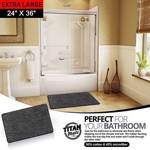 Super Trap Entrance - Indoor Non Slip Super-Absorbent Indoor Doormat   Absorbs Mud   Traps Dirt   Latex Bottom   24