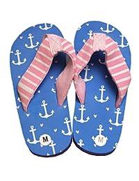 Little Blue House By Hatley Kids Flip Flops - Girl Anchor - Medium / Infant UK 9