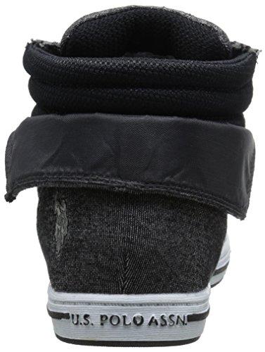 U.S. Polo Assn. Womens Womens Mila4 Fashion Sneaker Black Heather Jersey t9fFw