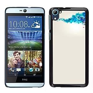 The White Geisha de China - Metal de aluminio y de plástico duro Caja del teléfono - Negro - HTC Desire D826