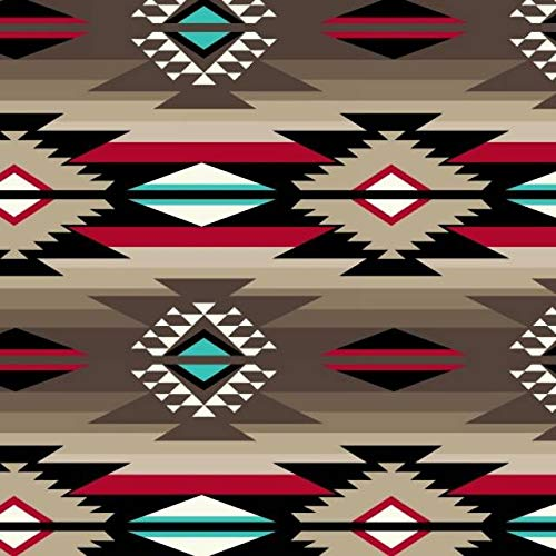 Raindance Taupe Native American Fleece Fabric - 60