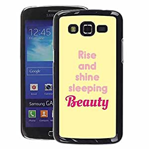 A-type Arte & diseño plástico duro Fundas Cover Cubre Hard Case Cover para Samsung Galaxy Grand 2 (Beauty Rise And Shine Yellow Quote)