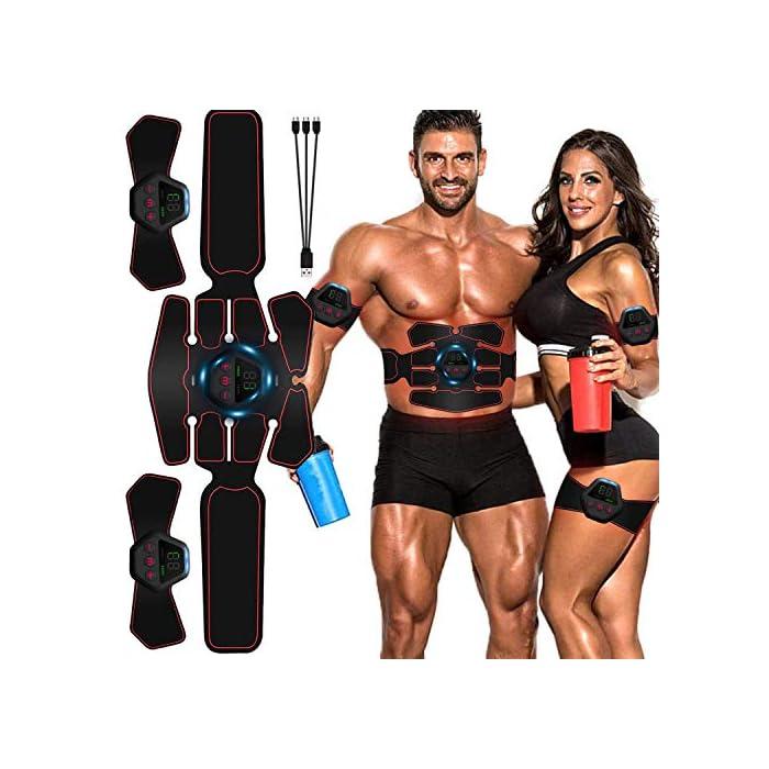 51TMVqsgs6L 【10 Modos & 20 Niveles de Intensidad】 - EMS electroestimulador muscular abdominales es un diseño profesional para el entrenamiento muscular, se utiliza para diferentes ejercicios parciales del cuerpo. Hay10 modos y 20 intensidades disponibles para ayudar al crecimiento muscular y la quema de grasa, y mantener la forma del cuerpo. Simplemente coloque la colchoneta donde desea hacer ejercicio, solo necesita ajustar la intensidad de la comodidad. 【Flexible & Portátil & Fácil de Llevar】 - Puede comenzar su programa de acondicionamiento físico sin importar cuándo/dónde, como: hacer ejercicio mientras lee, hacer las tareas domésticas, trabajar, mirar televisión o incluso durante viajes de negocios o de placer, etc...El estimulador electrónico de abdominales se puede usar en cualquier momento y en cualquier lugar, ya que es lo suficientemente pequeño como para guardarlo en el maletín, es muy fácil de llevar. 【20 Minutos por Día】- Envía señales directamente a los músculos y promueve el movimiento muscular. Úselo para el entrenamiento del abdomen / brazo / pierna para tensar la grasa del vientre, perder peso rápidamente y entrenar más eficazmente. arregle el estimulador de abs en su cuerpo 20 minutos todos los días, lo que equivale a 2000 metros corriendo, 60 minutos de sentadillas, 60 minutos de natación libre, 2 semanas de dieta.