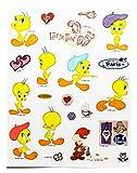 Looney Tunes Tweety Bird Different Color Berets Sticker Set (20 Stickers)