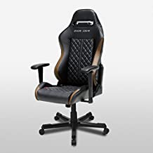 DXRacer OH/DF73/NC Drifting Series Black and Coffee Gaming Chair - Includes 2 free cushions and Lifetime warranty on frame