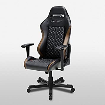 DXRacer OH DF73 NC Drifting Series Black and Coffee Gaming Chair – Includes 2 Free Cushions