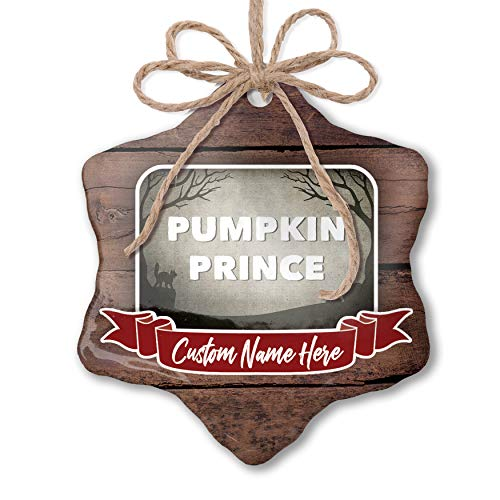 NEONBLOND Custom Family Ornament Pumpkin Prince Halloween Graveyard Personalized Name]()