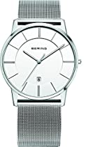 Bering Women's 39mm Steel Bracelet & Case Quartz White Dial Analog Watch 13139-000