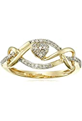 10k Yellow Gold Round Diamond Ring (1/10cttw, I-J Color, I2-I3 Clarity)