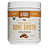 NEW! Organic Bone Broth Protein Powder, Best-Tasting Turmeric Flavor – Made from High Quality Grass-Fed Beef Bone Broth *No Fillers or Chicken, Rich in Ancient Collagen* by Natural Force, 11.11 Ounce