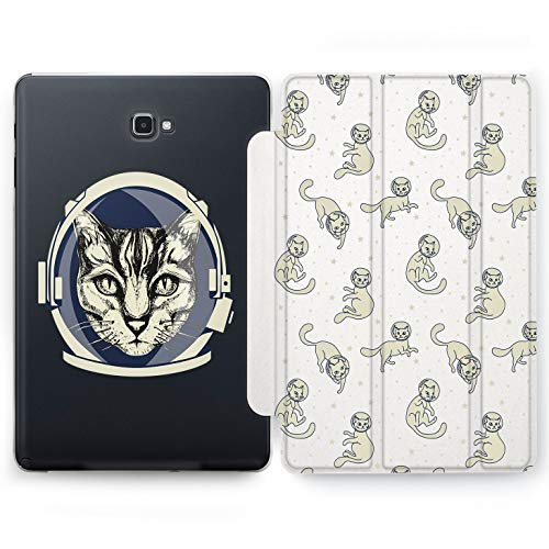 (Wonder Wild Cat Astronaut Samsung Galaxy Tab S4 S2 S3 A E Smart Stand Case 2015 2016 2017 2018 Tablet Cover 8 9.6 9.7 10 10.1 10.5 Inch Clear Design)