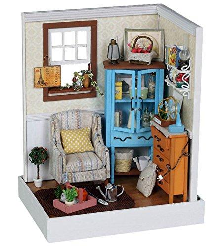 Dollhouse Miniature DIY House Kit Cute Room With Furniture a