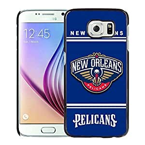New Custom Design Cover Case For Samsung Galaxy S6 New Orleans pelicans 10 Black Phone Case