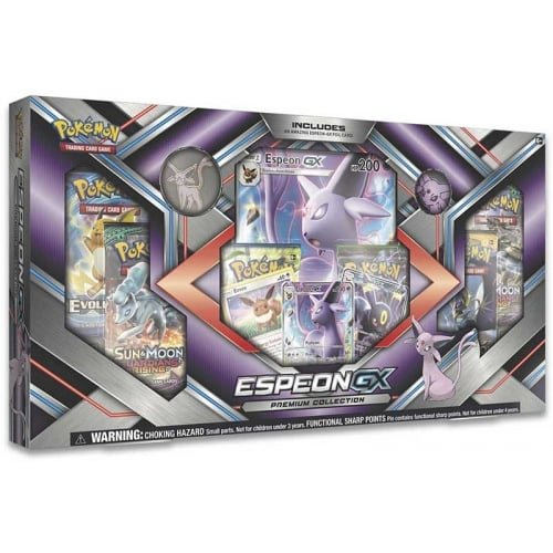 Pokemon TCG: Sun & Moon Guardians Rising Espeon-GX Premium GX Box Featuring A Collector's Pin And Coin