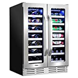 "Ivation 40-Bottle Dual-Zone 24"" Built-In Wine"