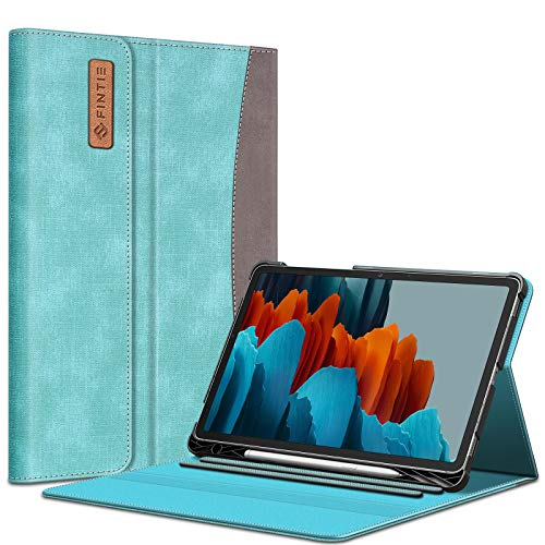 Fintie Case for Samsung Galaxy Tab S7 11'' 2020 (Model SM-T870/T875/T878) with Built-in S Pen Holder, Multiple Angle Portfolio Business Cover with Pocket Auto Sleep/Wake, Turquoise