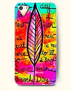 iPhone 5 5S Case OOFIT Phone Hard Case ** NEW ** Case with Design Each Day Is A New Path A New Start A New Chance To Let Go A Bright Brave Fresh Renewed Day - Maple - Case for Apple iPhone 5/5s
