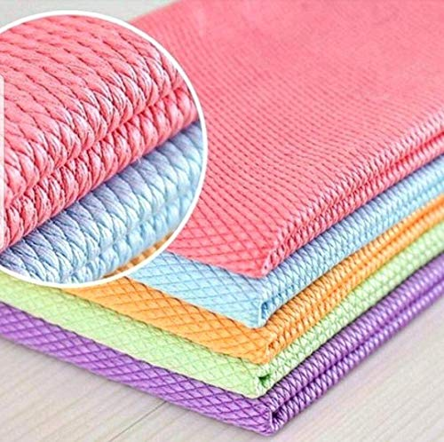 MSECVOI Microfiber Cleaning Dish Cloths for Washing Dishes Dish Towels and Dishcloths Sets for Kitchen Dish Rags Soft Absorbent Quick Drying 12 x 16\'\' 5 Pack (Mixed Color)