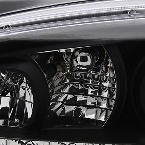 R8 Style Halo Led Spec-D Tuning LHP-GLF99JM-8-TM Black Projector Headlight