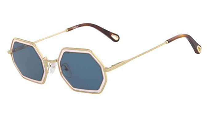 d46553c5d2 Chloé Women's Sunglasses Gold Gold/Blue M: Amazon.co.uk: Clothing
