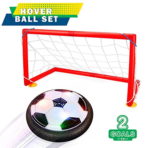 UlaTree Direct Kids Toys,Soccer Goal Set Hover Football with 2 Gates,Toy for Boys/Girls Age of 2 3 4 5 6 7 8-16 Year Old ,Children Gifts Sports Air Ball Indoor Game with LED Lights for $<!--$14.99-->