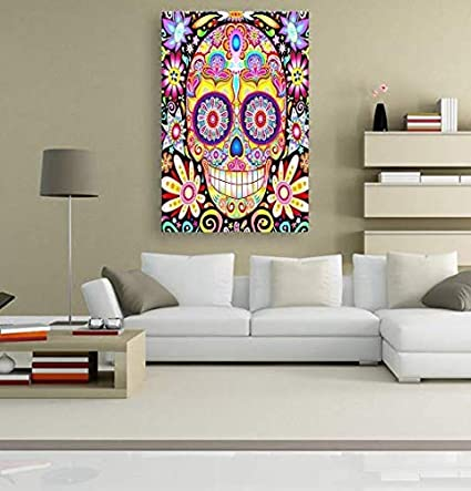 Diamond Embroidery Kit for Art /& Craft Skull Heart Size:16x16 in Home Decor 5D Artist Painting Kit DIY Cross Stitch Kit Great Designs Living Room Wall Decor