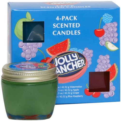 Jolly Rancher by Hanna's Candle 00100484 4-Pack Sampler - Hannas Candle
