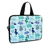 Laptop Sleeve, iCasso 11-12 Inch Stylish Soft Neoprene Sleeve Case Cover Handbag for MacBook Air 11,MacBook Retina 12 Inch/iPad Pro/Ultrabook Netbook Tablet,Dinosaur