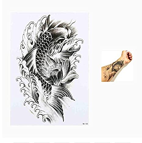 yyyDL Etiqueta engomada del tatuaje Flor pájaro calcomanía Tatoo ...