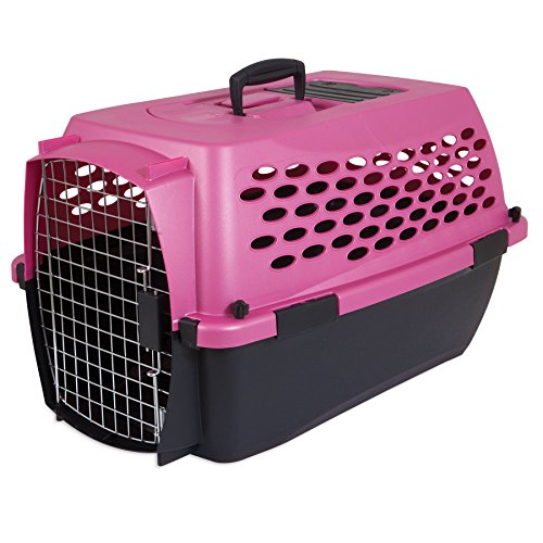 Petmate Fashion Vari Kennel, 10-20lbs, Dark Pink/Black