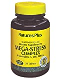 Natures Plus Mega-Stress Complex – 30 Vegetarian Tablets, Sustained Release – B Complex, Vitamin C Stress Relief Supplement, Chamomile and Herbs for Natural Calm – Gluten Free – 30 Servings Review