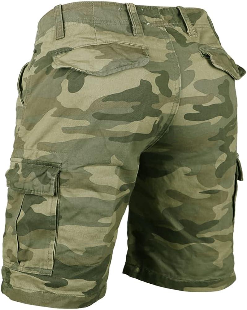 7XL Surplus Herren Shorts Airborne Vintage Cargo Relaxed Fit Camouflage S