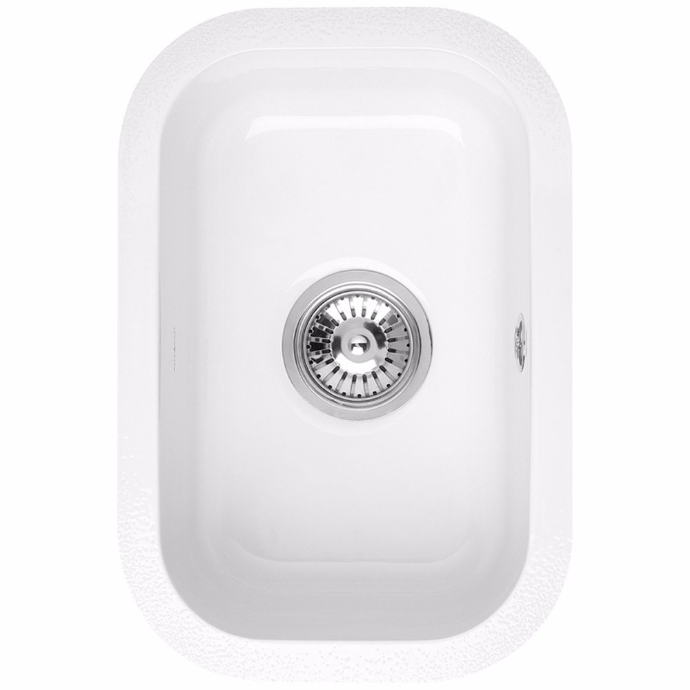 Astracast lincoln 2540 0 5 bowl gloss white ceramic undermount kitchen sink amazon co uk diy tools