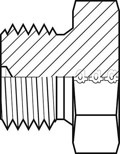 Adaptall 9030-32 Series 9030 Carbon Steel Hex Plug Male BSPP Carbon Steel