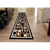 Masada Rugs Modern Rug Runner 32 In. X10 Ft. Brown Design # 125