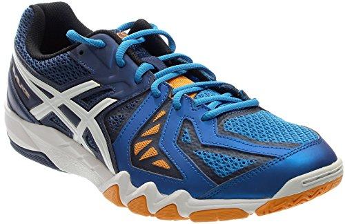 Asics Indoor Court Shoes - ASICS Men's Gel-Blade 5 Indoor Court Shoe, Electric Blue/White/Navy, 11.5 M US
