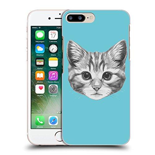 GoGoMobile Coque de Protection TPU Silicone Case pour // Q05140627 Dessin chaton Cyan // Apple iPhone 7 PLUS
