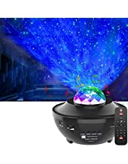 LED Star Projector,OxyLED Roterende Ocean Wave Sterrenhemel Nachtlampje,Kleur Veranderende Muziekspeler met Bluetooth&Timer&Afstandsbediening Nebula Star Projector Lamp Voor Slaapkamer,Feest,Vakantie