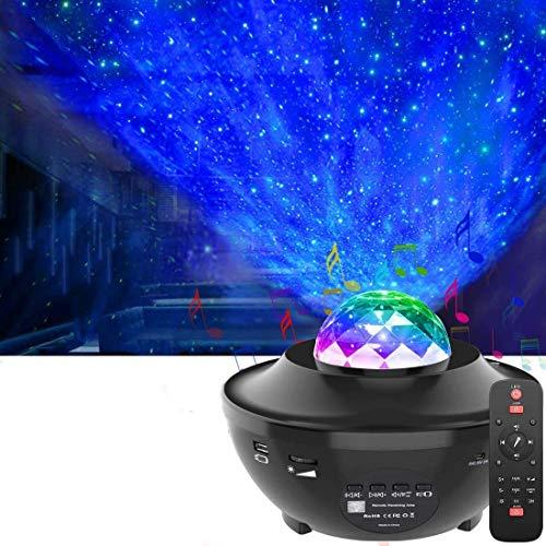 LED Proyector de Luz Estrellas Galaxia,OxyLEDLampara Proyector Estrellas con Control Remoto&Temporizador&Bluetooth,Luz Bebé Nocturna,Proyector LED Reproductor de Música Decorativas Habitacion Fiesta