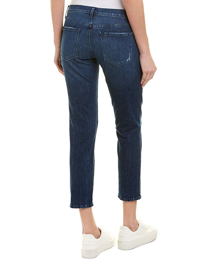 J Brand Womens Sadey Solar Destruct Slim Straight Leg 25 Blue