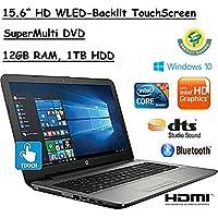 2017 Newest Flagship Model HP 15.6 HD TouchScreen Premium High Performance WLED-Backlit Laptop, 7th Gen. Intel Core i5-7200U, 12GB RAM, 1TB HDD, Windows 10, Turbo Silver