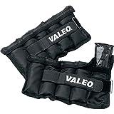 Valeo 10 Pound Adjustable Ankle/Wrist Weights, Black, Pair